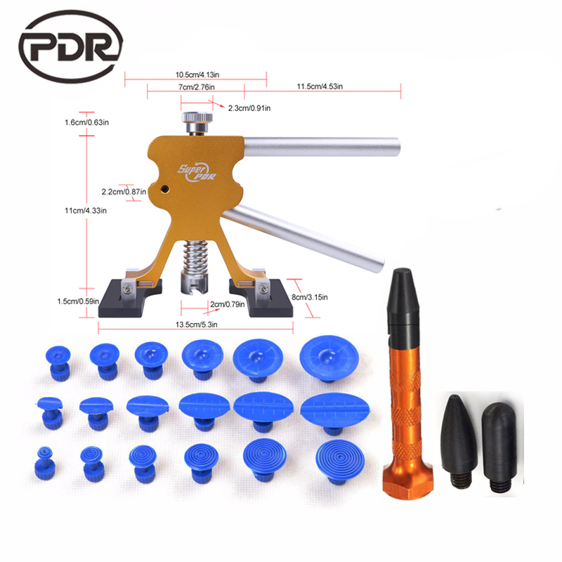 PDR Strumenti Per Car Kit Dent Lifter Paintless Dent Repair Tools Hail danni strumenti di riparazione Auto Body Dent Riparazione Utensileria Set