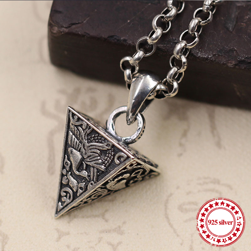 925 sterling silver couple pendants personalized classic retro fashion style four animal pendant modeling lover jewelry gift