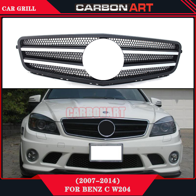 Front grill mesh for mercedes w204 c class auto bumper for Mercedes benz spare parts price list