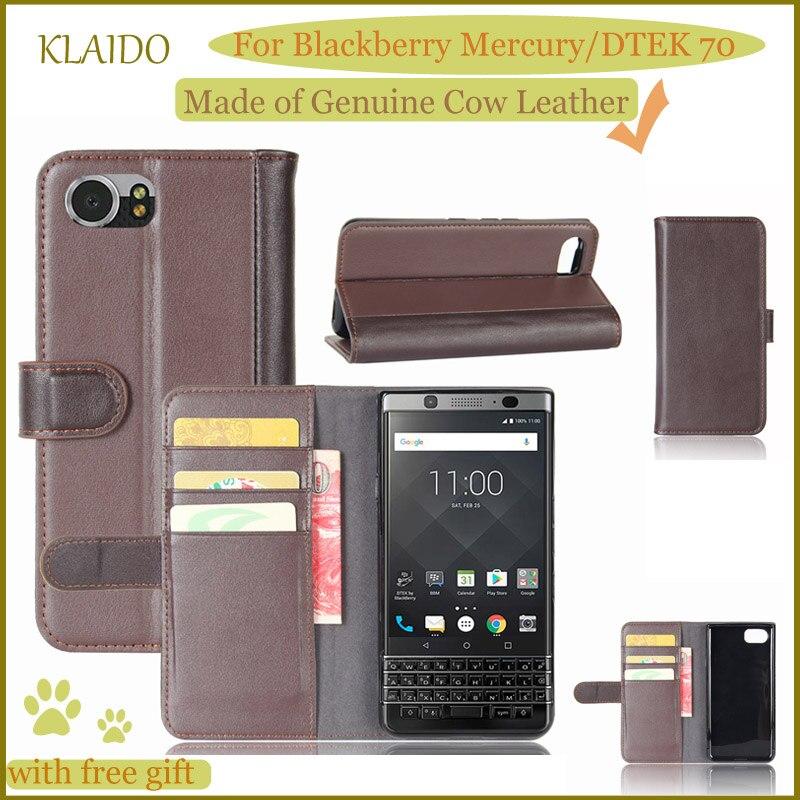 imágenes para KLAIDO Mercurio Caso Genuino de Cuero de Vaca Caja Del Teléfono Móvil Para Blackberry Blackberry Keyone DTEK 70 Caso Funda de Cuero Genuino