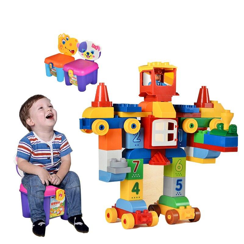 75/66 / 65PCS grands blocs de briques de mon premier numéro - Concepteurs et jouets de construction - Photo 3