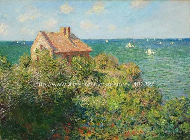 Wall Decor Stickers Mode French Impressionist Landscape Painting Monet The  Fisherman'S House At Varengeville 1882 - Wall Decor Stickers Mode French Impressionist Landscape Painting