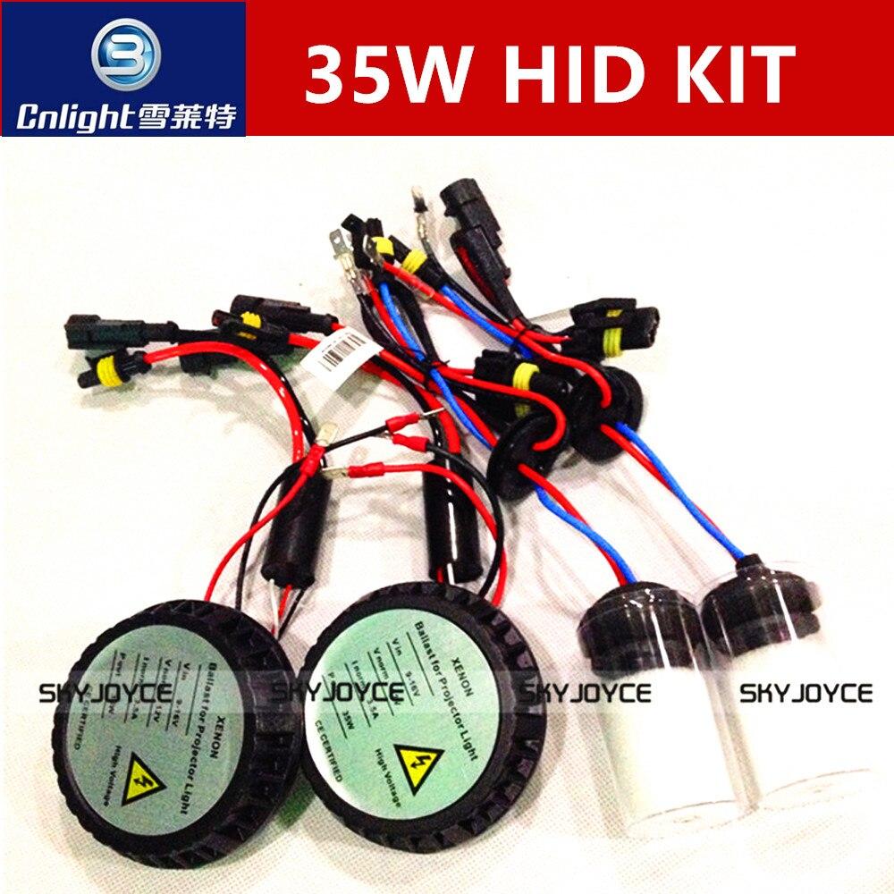 1 комплект 12 В 35 Вт все в одном спрятанный набор мини для всех с Cnlight Ксеноновые лампы замена лампы Н1 Н3 Н7 Н11 9005 9006 3000К-8000К