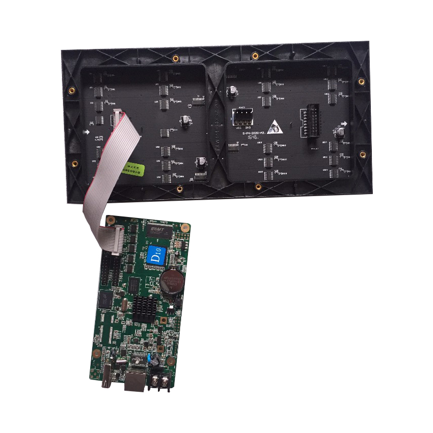 Asynchronous HD-D10 Full Color LED Display Control Card 384*64pixels  4*HUB75 Data Interface RGB Small Size Screen Control Card