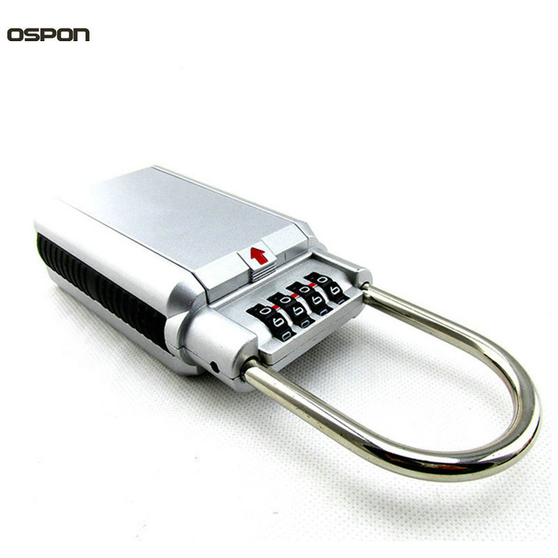OSPON 2107Outdoor Key Safe Box Keys Storage Box Padlock Use Four Password Lock Alloy Material Keys Hook Security Organizer Boxes