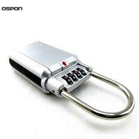 OSPON 2107Outdoor Key Safe Box Keys Storage Box Padlock Use Four Password Lock Alloy Material Keys Hook Security Organizer Boxes