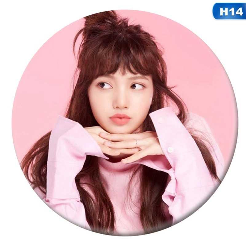 Coreano KPOP Álbum BLACKPINK Badge Pin Broche Acessórios Para Roupas Chapéu Mochila Decoração