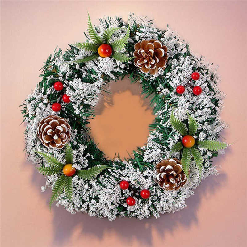 2018 handmade Wall Hanging Christmas Wreath Decoration For Xmas Party Door Garland Ornament Perfect window decoration #2n7 (8)