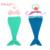 Moda Bebé Recién Nacido Foto Atrezzo Outfit Crochet Punto Mermaid Costume Girl Fotografía Prop Traje de Lana S6025