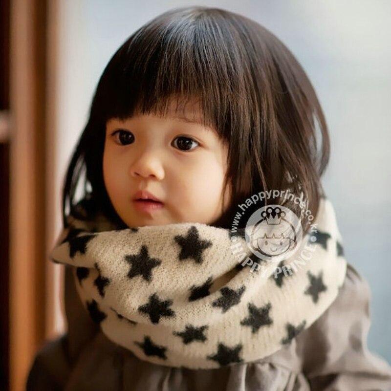 Korean Brand Knitted Warm Winter Scarf Ring Woolen Cotton Cute