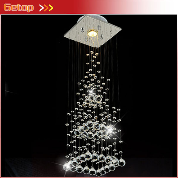GETOP Best Price Crystal Pendant Light Europe Luxury Crystal Lamp Pyramid LED Decorative 20*20cm bl fu185a sp 8eh01gc01 original projector lamp with housing for optoma hd66 projector
