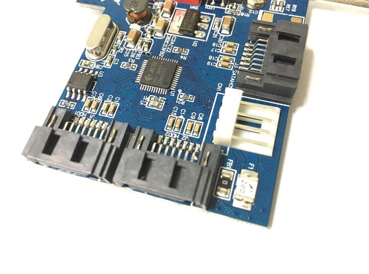 Купить с кэшбэком Brand New 2 Port SATA PCI CONTROLLER RAID CARD 2 SATA SERIAL ATA PCI CONTROLLER RAID I/O CARD PC/mac pro 1.1-5.1+Cable