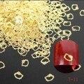1000 UNIDS Nail Art Decoration Rueda de Cobre gato de dibujos animados de Metal Formas Glitter Oro Encantos Uñas 3D Rivet Espárragos de Uñas Juegos de Ruedas # 114FG