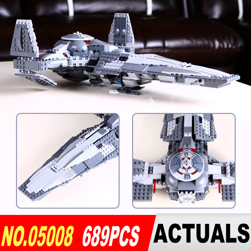 LEPIN 05008 Star Series Wars the Force Awaken Infiltrator  Building Block Darth Margus Compatible legoed 70596 Boys Toys Gift star wars boys black