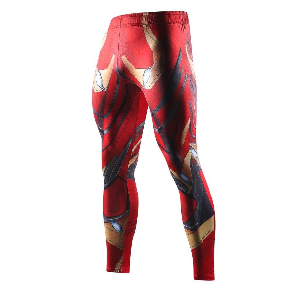 Men Skinny Compression Pants Superman Spiderman Iron Man Batman Leggings Sweatpants 3D Fitness Bodybuilding Elastic Trousers