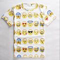 Women/Men Print 3D Emoji t shirts Smiley Emotion Lovely Funny Cartoon T-Shirt Short Sleeve Tops Tee for Boys Girls