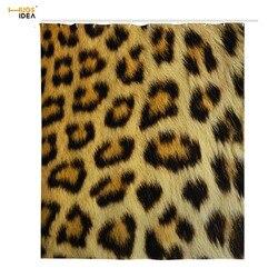HUGSIDEA 3D di Stampa Del Leopardo Accessori Per il Bagno Doccia Tenda Ispessito Moldproof Impermeabile Tenda della Vasca Da Bagno con 12 pz Ganci