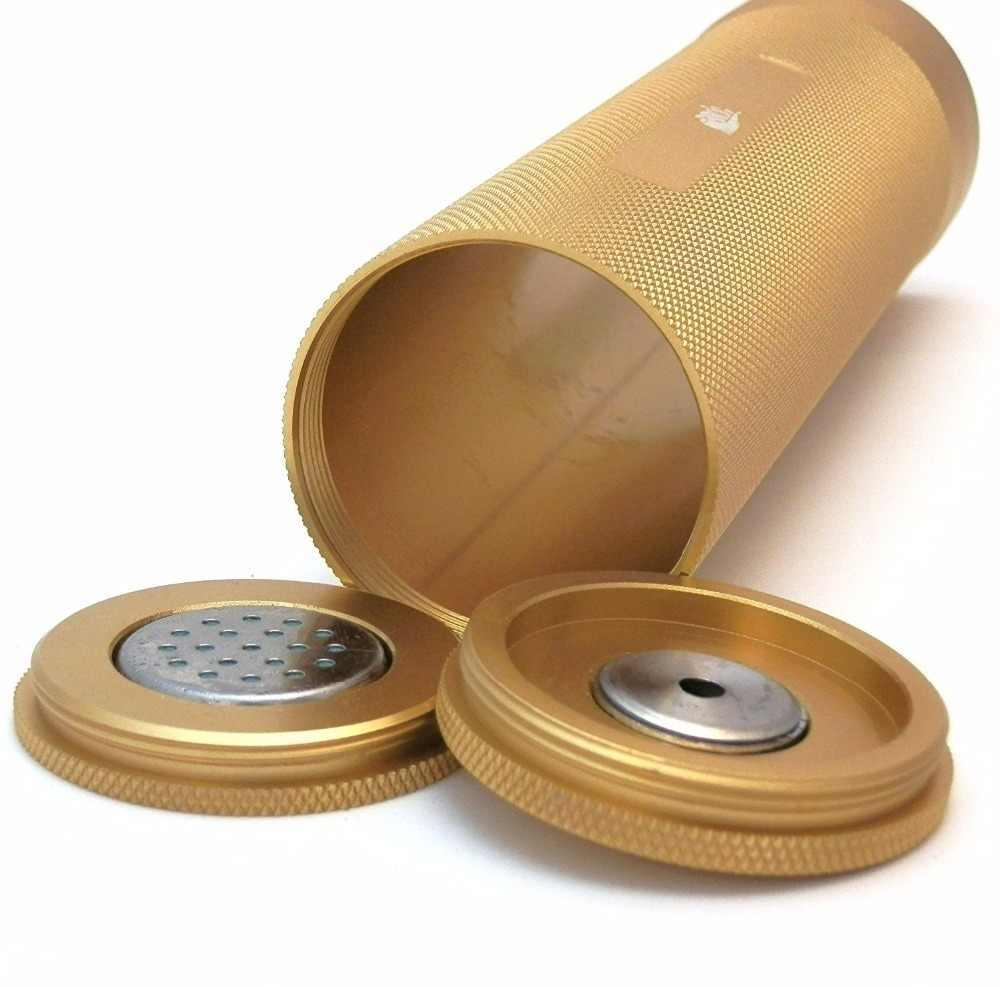 Сигары Humidor COHIBA мини гаджеты дорожная трубка из алюминиевого сплава портативная металлическая банка увлажнитель гигрометр аксессуары для сигар чехол