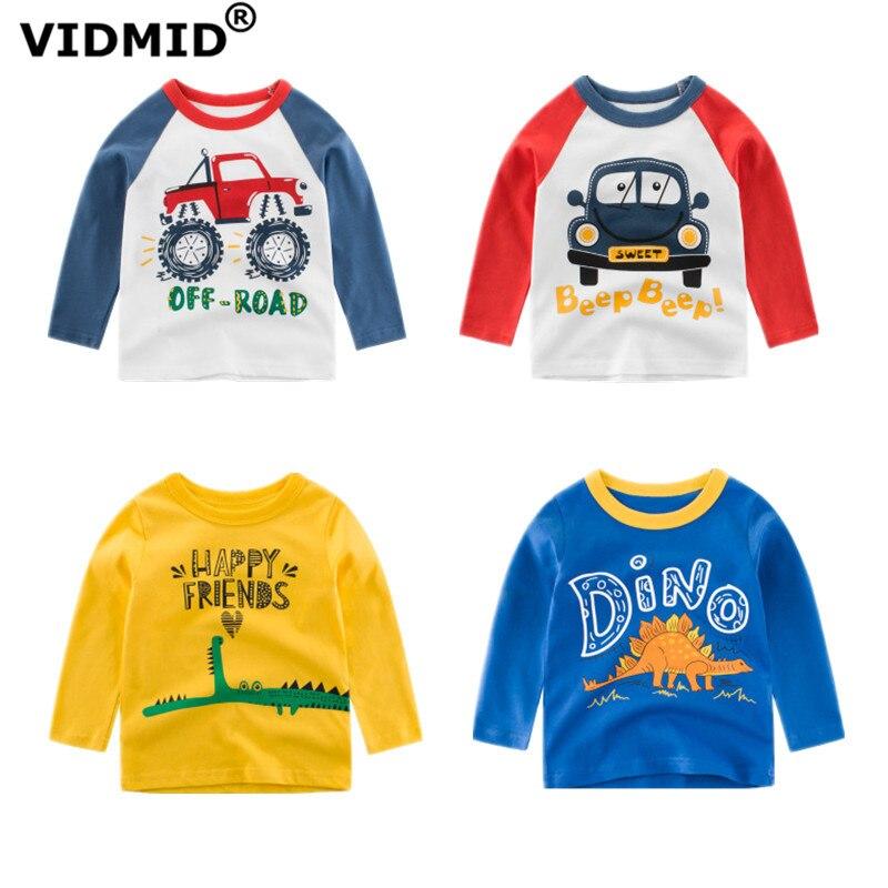 VIDMID Dinosaur Clothing T-Shirts Long-Sleeve Children Tees Tops Baby-Boys Cotton Summer