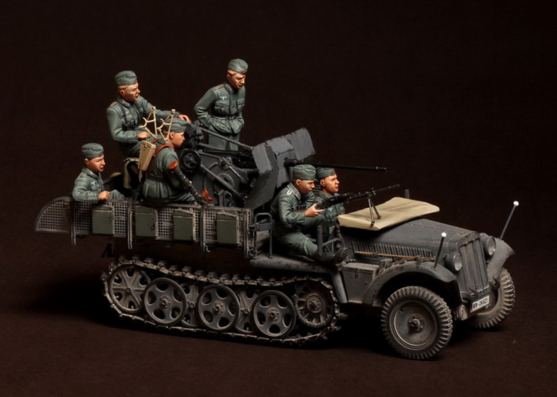 Scale Models 1/35 Crew for Sd.Kfz.104 fur 2cm FlaK 30 include 6 not have car figure uncolor WWII Resin Model Free Shipping scale models 1 16 120mm soviet soldier ww2 120mm figure historical wwii resin model free shipping