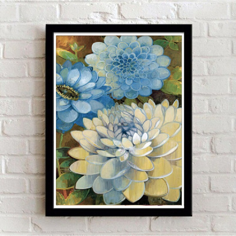 Framed wall art canvas painting Ethnic pictures for ...