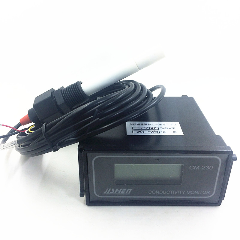 CM-230 Online Conductivity Monitor Conductivity Meter Electric Conductivity Rate Instrument Tools 0-20/200/2000uS/cm 1.5%(FS) 199 9us 1 999ms 19 99ms 2%fs 1d portable conductivity meter cd 4301