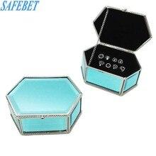 SAFEBET европейский бренд Стиль Кристалл Стекло ящик для хранения ювелирных изделий творческих складной женщина Макияж Ящики для хранения Организатор