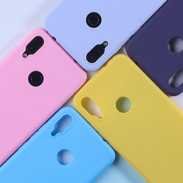 Caso Para Xiaomi Redmi 7 6 Pro 4A 4X 5A 6A 5 Mais Doces Cor TPU Caso Para Nota Redmi 7 6 5 Pro 4X 5A Prime Caso Mate Silicone