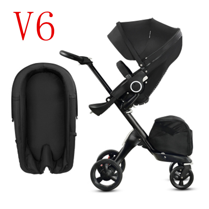 Luxury Baby Stroller 2 In 1 High Landscape Folding Portable Baby Carriage For dolls 0-3  ...
