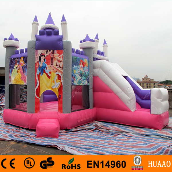 Free Shipping Commercial Princess Inflatable Bouncy Castle With Slide With Free CE Blower free shipping by sea popular commercial inflatable water slide inflatable jumping slide with pool