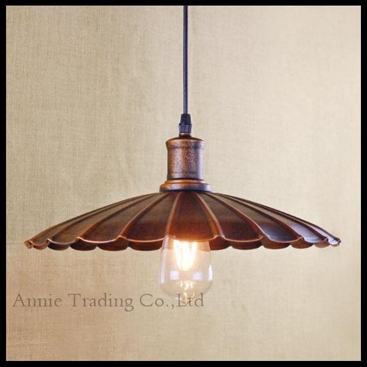 ФОТО vintage industrial lamp 34cm lampara retro pendant light Rustic Umbrella lampshade lights Countryside E27 edison lamps 2016