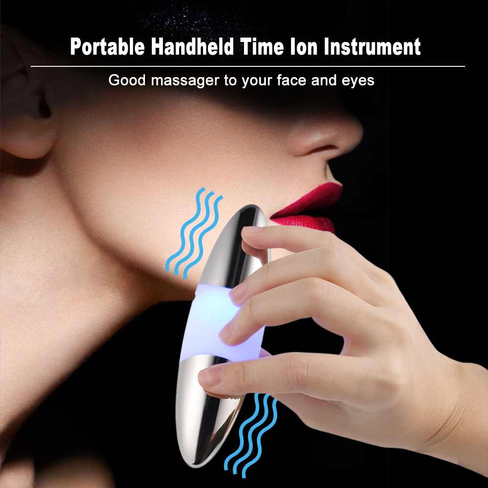 Face Eye Massager Essential Oil Booster Micro-Vibration Eye & Face Massager Portable Handheld Time Ion Instrument(China)