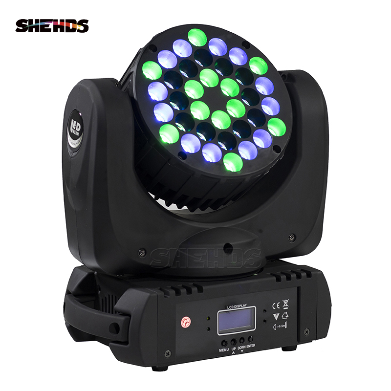 2019 The Latest 36X3W Beam Moving Head Light RGBW 4 In 1 LED Wash Moving Disco Nightclub Stage Lighting
