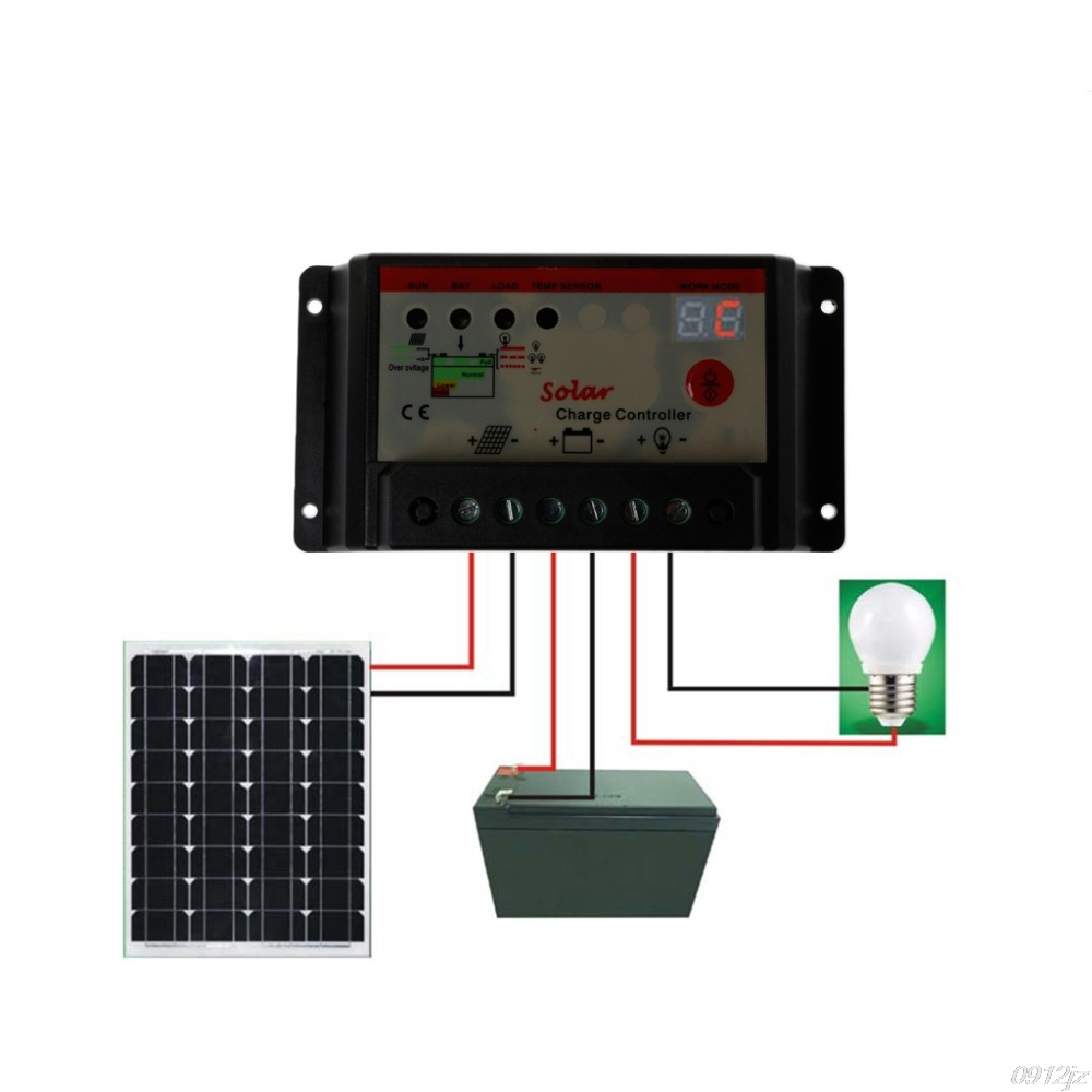 10a 20a 30a Pwm Solar Charge Controller Regulator 12v 24v St Light Mode 6a Small Control Ce Timer Charger Controllers Lsd Tool In From Home Improvement On