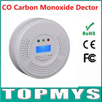 Home Safety System LCD Display CO Carbon Monoxide Gas Poisoning Smoke Sensor Warning CO Carbon Monoxide