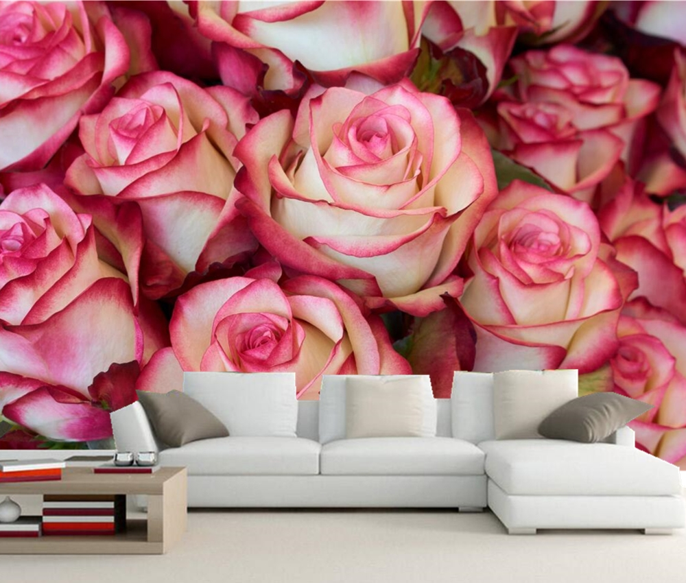 Custom 3d Mural, Roses Closeup Flowers Wallpapers,living Room Tv Wall  Kitchen Bedroom Restaurant Romantic Wallpaper In Wallpapers From Home  Improvement On ... Part 68