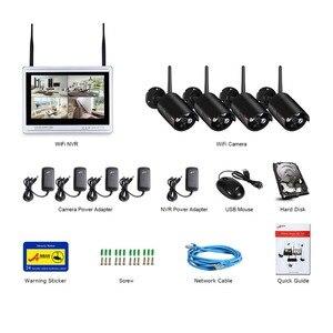 Image 5 - Anran 4CH Sistema Cctv Wireless 1080P 12 Pollici Nvr Sistema di Telecamere di Sicurezza con 2MP Esterna Del Ip di Wifi Della Macchina Fotografica di Sorveglianza kit