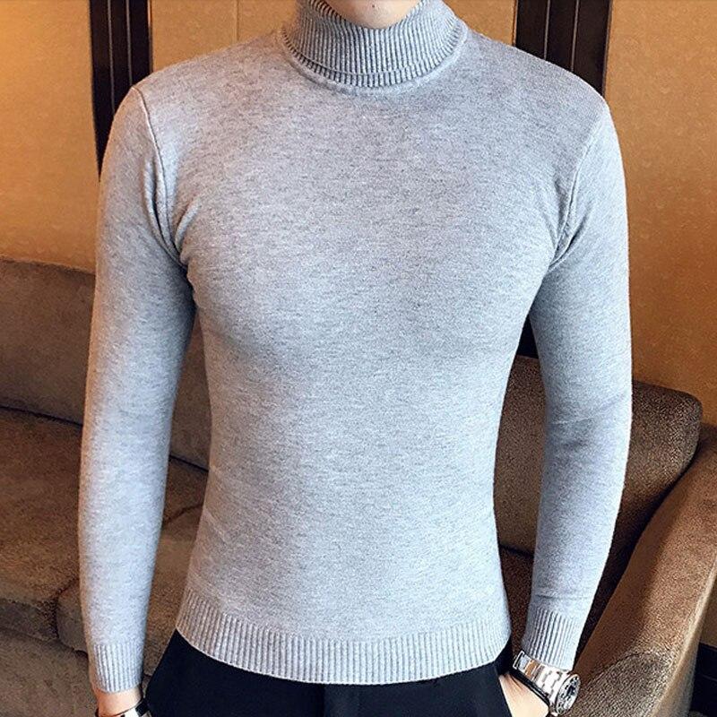 Dropwow Winter High Neck Thick Warm Sweater Men Turtleneck Brand ... f8baa0344