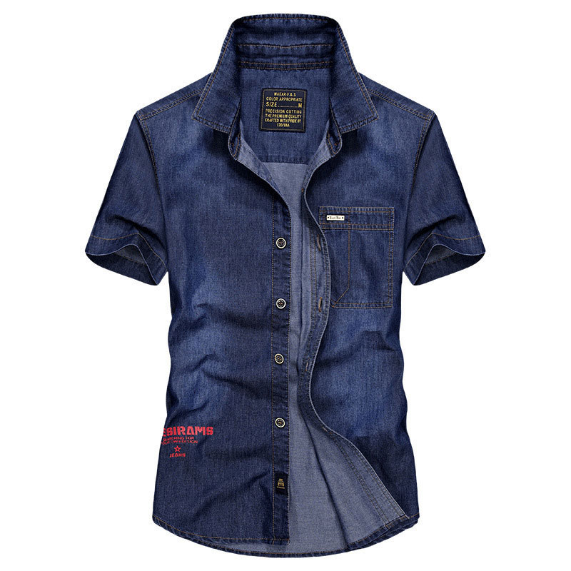 Clothes JEANS SHORTS SHIRTS MEN CASUAL OVER SIZE S~4XL CLOTHING SUMMER SLIM SHORTS COWBOY CASUAL FASHION YOUNG BRAND MEN SHIRTS