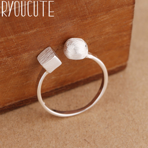 Punk Style Vintage Retro Silver Color Cube Box Rings for Women Romantic Adjustable Large Antique Finger Rings Anillos