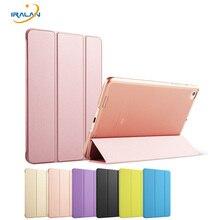 Nuevo Color Sólido Translúcido de La Contraportada para Xiaomi mi Pad 2 3 Folio Ultrafino Peso PC Back mipad 3 Smart Case + Stylus + film