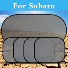 Автомобиль Черный Pinstripe сетки солнцезащитный комплект козырька крышка УФ Защита для Subaru Alcyone BRZ Dex Exiga Forester Impreza WRX STi Justy