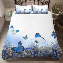 A Bedding Set 3D Printed Duvet Cover Bed Butterfly Home Textiles for Adults Bedclothes with Pillowcase #HD06