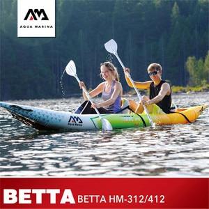 Image 1 - AQUA MARINA 2019 Nieuwe Betta HM Opblaasbare Boot Dubbele Personen Vissen Roeiboot Opblaasbare Kajak Sport Kano 312*83 cm/412*83 cm