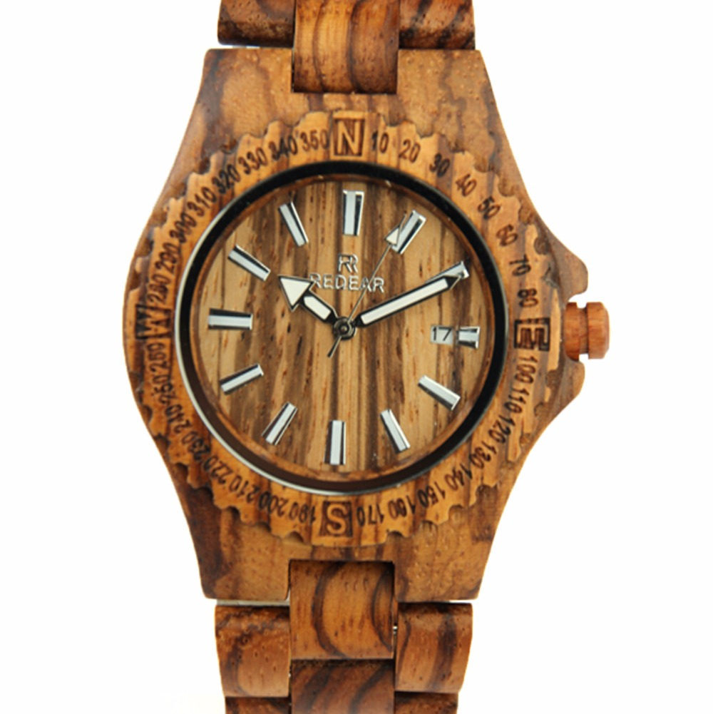 ФОТО REDEAR Brand Men Wooden Watch Top Brand Luxury Quartz Wristwatches Fashion Relogio Masculino