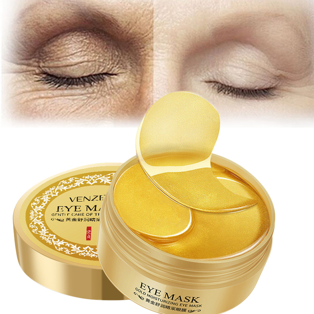 Gold Eye Mask Eye Patches for Eye Care 60 Pcs Anti-Puffiness Moisturizing Sleeping Mask Remover Dark Circles Anti Age Skin Care