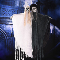 Halloween Hanging Ghost Decoration Festival Skeleton Toys Haunted House Props Electric Ghosts Bride Grooms for Costume Party