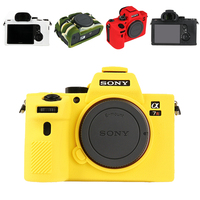 Top Texture Design Rubber Silicon Case Body Cover Protector Frame Skin for Sony A7 A7R Mark III ILCE A7RM3 ILCE A7M3 Camera Soft