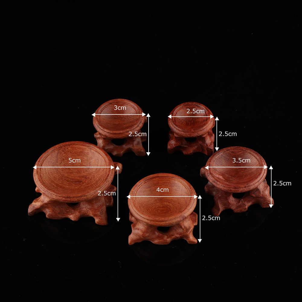 Acid สาขาไม้ขาตั้งฐานทนทาน Miniature Retro สำหรับคริสตัล Ball Sphere Globe หินคริสตัล Ball Home Decor