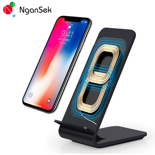 Fast Charge Qi Wireless Charging Pad Dock Charger for